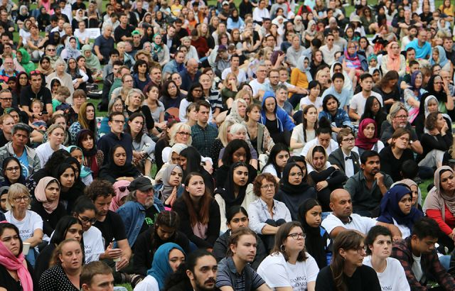 Thousands gather for vigil in Auckland Domain