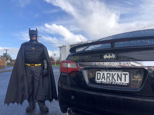 Real-life Batman dedicates time to spread joy in NZ