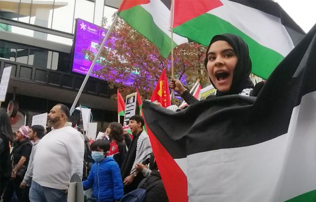 Aucklanders march in solidarity with Palestine