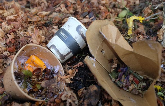 Compostable packaging going to landfill causing methane