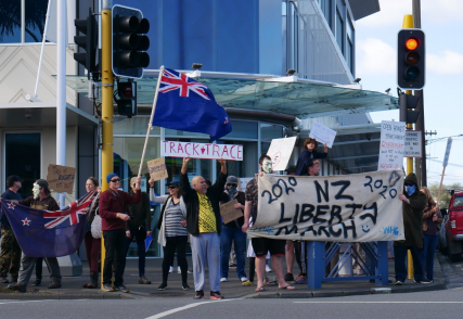 Anti-lockdown protests carry on in Whangarei