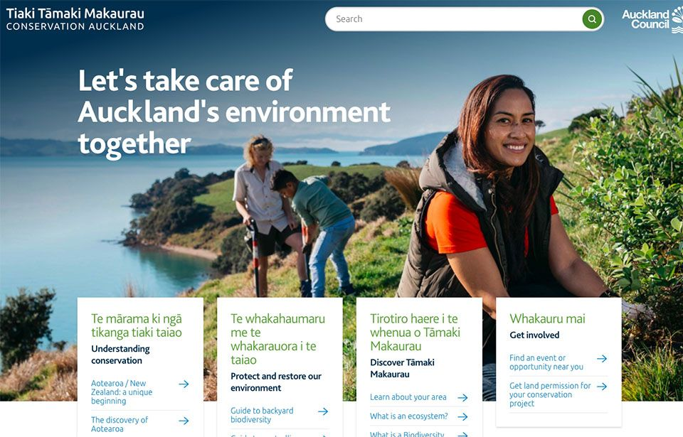 Get your hands dirty on Auckland's new conservation website